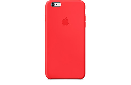 Чехол Apple Silicone Case для iPhone 6 Plus/6s Plus (красный)