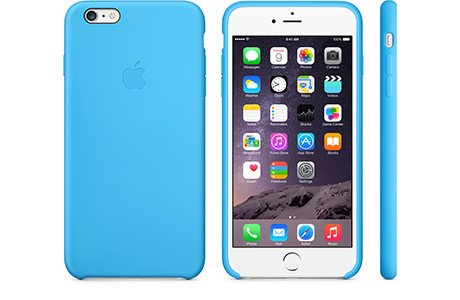 Чехол Apple Silicone Case для iPhone 6 Plus (голубой)