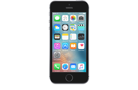 Смартфон Apple iPhone SE 16 ГБ (серый космос)