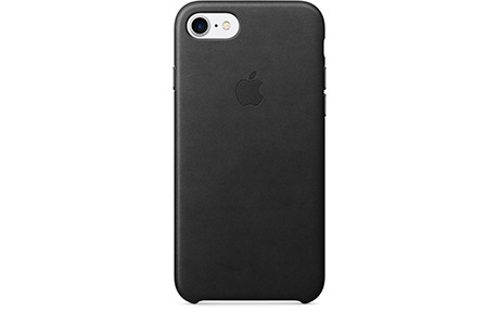 Чехол Apple Leather Case для iPhone 7 Plus (black, черный)