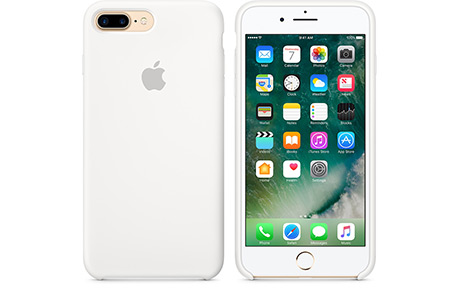 Чехол Apple Silicon Case для iPhone 7 Plus (white, белый)