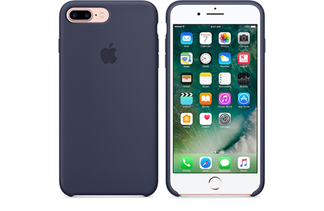 Чехол Apple Silicon Case для iPhone 7 Plus (midnight blue, темно-синий)