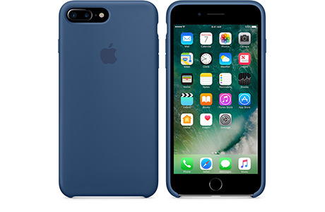 Чехол Apple Silicon Case для iPhone 7 Plus (ocean blue, глубокий синий)