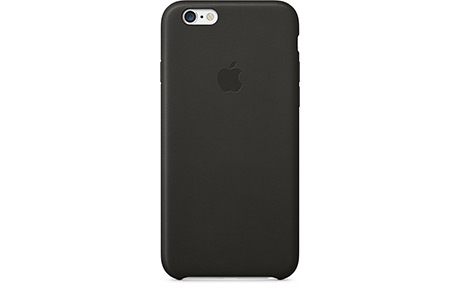 Чехол Apple Leather Case для iPhone 6/6s (черный)