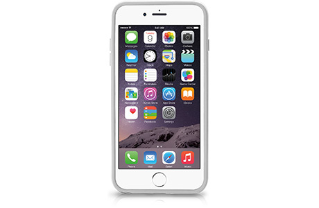 Чехол-бампер Macally Rim для iPhone 6 Plus (белый)