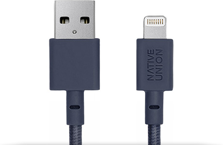 Кабель Native Union Belt Cable USB — Lightning, 1,2 м (морской)