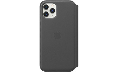 Чехол Apple Leather Folio для iPhone 11 Pro (черный)