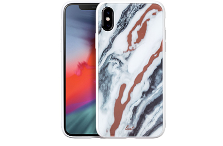 Чехол Laut Mineral Glass для iPhone Xs Max (белый мрамор)