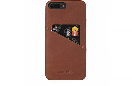 Чехол-накладка Decoded Leather Back Cover для iPhone 8 Plus / 7 Plus / 6s Plus / 6 Plus (коричневый)