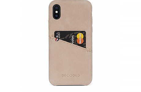 Футляр-накладка Decoded Leather Back Cover для iPhone X (кремовый)