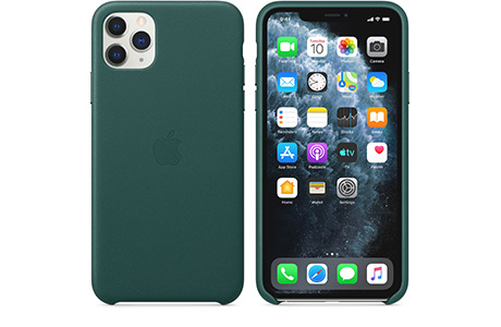Чехол Apple Leather Case для iPhone 11 Pro Max (зеленый лес)
