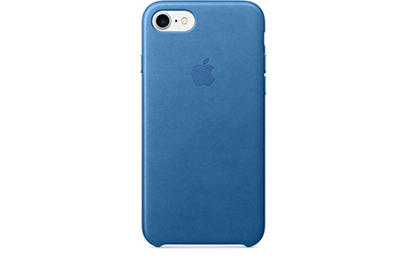 Чехлы Apple Leather Case для iPhone 7 (sea blue, синее море)
