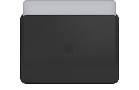 Чехол Apple Leather Case для MacBook Pro 13″ (черный)