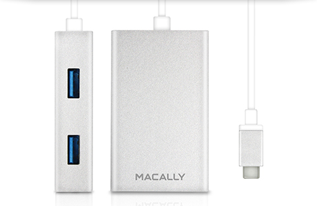 Адаптер Macally USB-C — 4 × USB