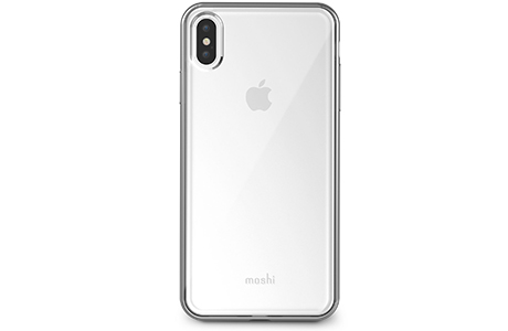 Чехол Moshi Vitros Slim Clear Case для iPhone Xs Max (серебристый)