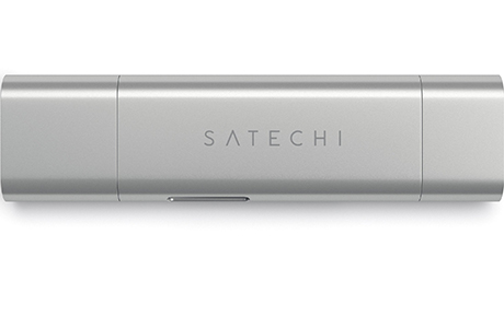Кадридер Satechi Aluminum Type-C USB 3.0 and Micro/SD (серебристый)