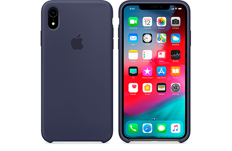 Чехол Silicone Case для iPhone Xr (полуночный синий)