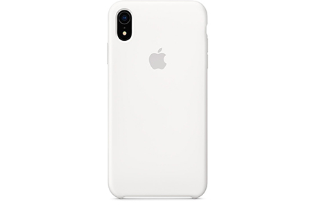 Чехол Silicone Case для iPhone Xr (белый)
