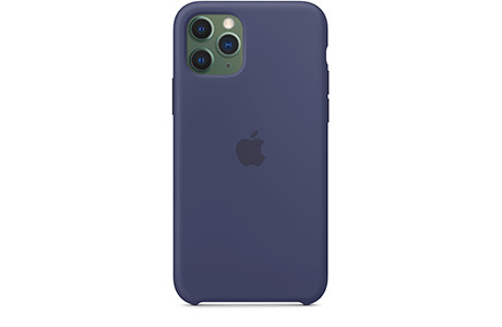 Чехол Apple Silicone Case для iPhone 11 Pro (темно-синий)