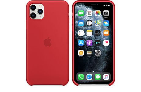 Чехол Apple Silicone Case для iPhone 11 Pro Max (красный)