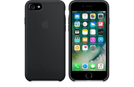 Чехол Apple Silicone Case для iPhone 7 (black, черный)