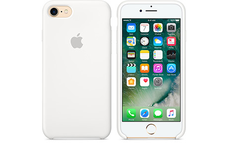 Чехол Apple Silicon Case для iPhone 7 (white, белый)