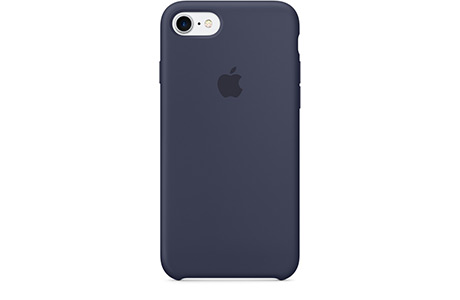 Чехол Apple Silicone Case для iPhone 7 (midnight blue, темно-синий)