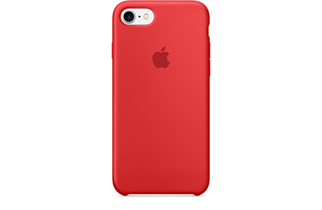 Чехол Apple Silicone Case для iPhone 7 (красный)