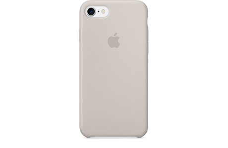 Чехол Apple Silicone Case для iPhone 7 (stone, бежевый)
