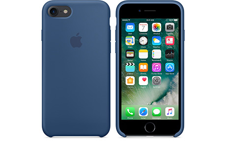 Чехол Apple Silicone Case для iPhone 7 (ocean blue, глубокий синий)