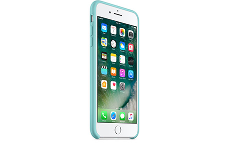 Чехол Apple Silicone Case для iPhone 7 Plus (sea blue, синее море)
