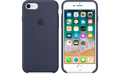 Чехол Apple Silicone Case для iPhone 8 (полуночный синий)