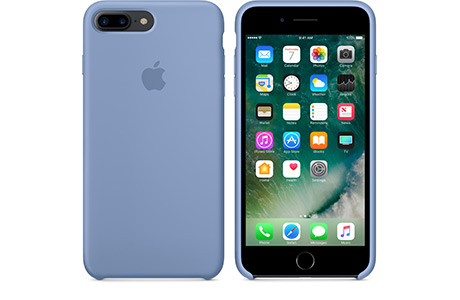 Чехол Apple Silicon Case для iPhone 8 Plus (лазурный)