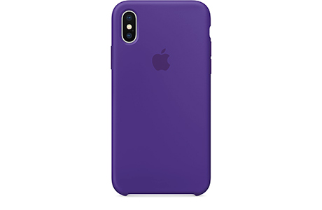 Чехол Apple Silicone Case для iPhone X (фиолетовый)