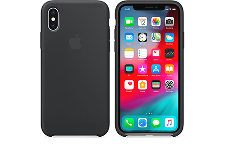 Чехол-накладка Apple Silicone Case для iPhone Xs / X (черный)