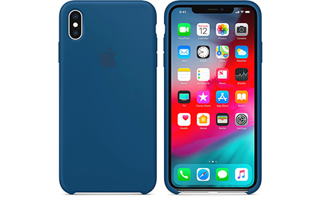 Чехол-накладка Apple Silicone Case для iPhone Xs Max (синий горизонт)