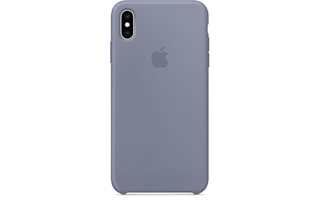 Чехол-накладка Apple Silicone Case для iPhone Xs Max (серая лаванда)