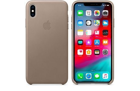 Чехлы для iPhone: Apple Leather Case для iPhone Xs Max (бежевый)