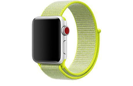Ремешки для Apple Watch: Ремінець Apple Nike Sport Loop 38/40 мм (кислота)